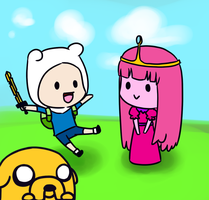 Chibi Adventure time by flying-bagel