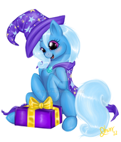 Commission - Happy Trixie by tasertail