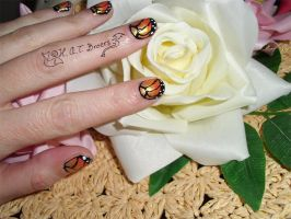 Nail Art Monarch Butterfly by Kythana