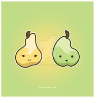 Kawaii Pears by KawaiiUniverseStudio