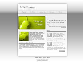 Website template by Atzero