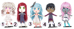 Adoptables - Cute Dolls (OPEN) [only Paypal] by Teksu