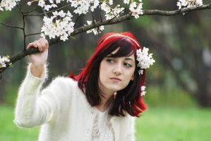 Cherry blossom girl by EvelynMoon
