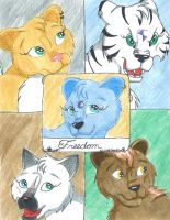 Freedom: front cover by BlueLumi