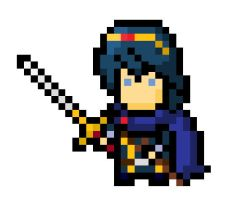8 bit Marth by Marbles16