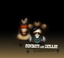 Cowboys and Indians by wackypixel