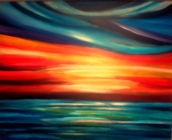 Abstract sunset. by playDEADwithme