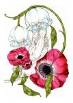 anemone and bay leaf by Sebright