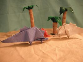 Origami Stegosaurus Instr. by DonyaQuick