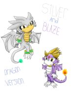 Silver and Blaze-Dragon version by Runnie-the-cheetah