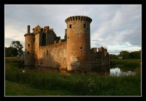 The Caerlaverock Castle by Maxefix