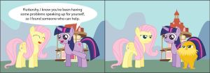 Fluttershy's New Mentor by T-3000