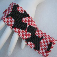 Scotties on Houndstooth Cuff by SandFibers