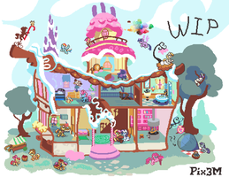 [WIP] House of Sweets by Pix3M