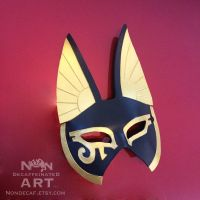 Large Egyptian Anubis Half Mask - front view by nondecaf