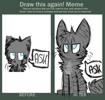 draw this again meme: ask jaykit by undead-feline