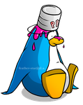 Penguin with Paint by Feather-Star