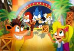 Crash's and Sonic's N SANE MANIA by xeternalflamebryx
