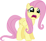 Shocked Fluttershy by Pappkarton