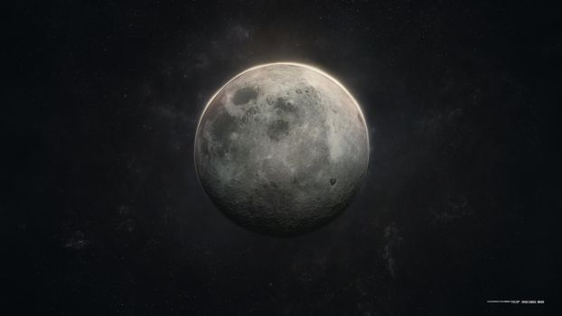 Space Series-Moon by Lacza