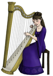 The Harpist-- Color Concept by teh-mizzer