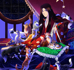 cats are bound to lonely people: animated picture by Asakura-Yoh-z0