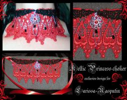 Keltic Princess choker by redLillith