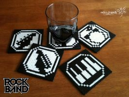 Rock Band Coasters by RockerDragonfly
