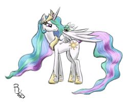 Day 01- Princess Celestia by RavenousDrake