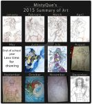2015 Summary of Art by MistyQue