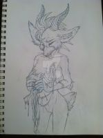 WIP: this withered heart in my hands (pencil) by gravity1046