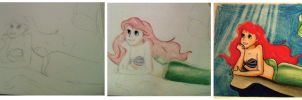 Ariel progress shots by Radiantaura