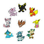 Eeveelutions by loofytehfox