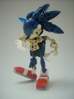 Sonic Bionicle by riverthehedgehog2005