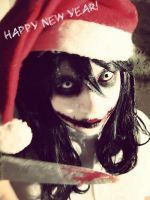 Jeff the killer cosplay-happy new year! by haozeke93