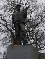 The Building Worker Statue by Party9999999