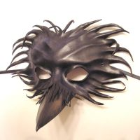 Raven Leather Mask side by teonova