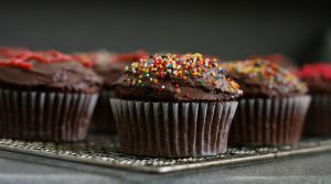 Double chocolate cupcakes by fragile-pig