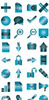 Blue Simpleshots Icons by abdussadik