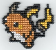 Raichu Pin by StitchPlease