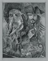 Davy Jones vs Capt. Jack by GabeFarber