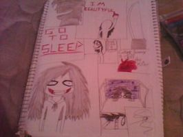 Jeff The Killer Collage homenaje by shicaphinbella12