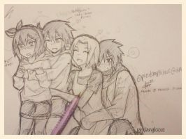 sasusaku family [sketch] by pindanglicious