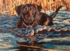 Labrador needlepoint by Animula2012