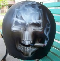 Smoking Skull Helmet by MikeLangston