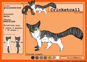 (TcotV) .: Cricketcall ref sheet NEW :. by TheClansOf-TheValley