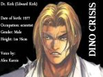 DinoCrisis -- comic book -- Dr. Kirk Profile by Mechanic-Star