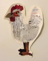 Recycled Paper Chicken by Centripity