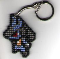 Lucario Keychain by StitchPlease