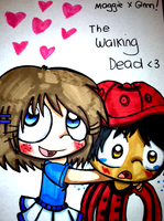 Maggie X Glenn The Walking Dead by Violent-Rainbow